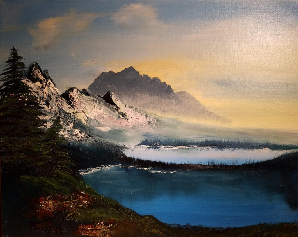 """""""Happy Mountains"""" Oil on Canvas 20""""x16"""""""